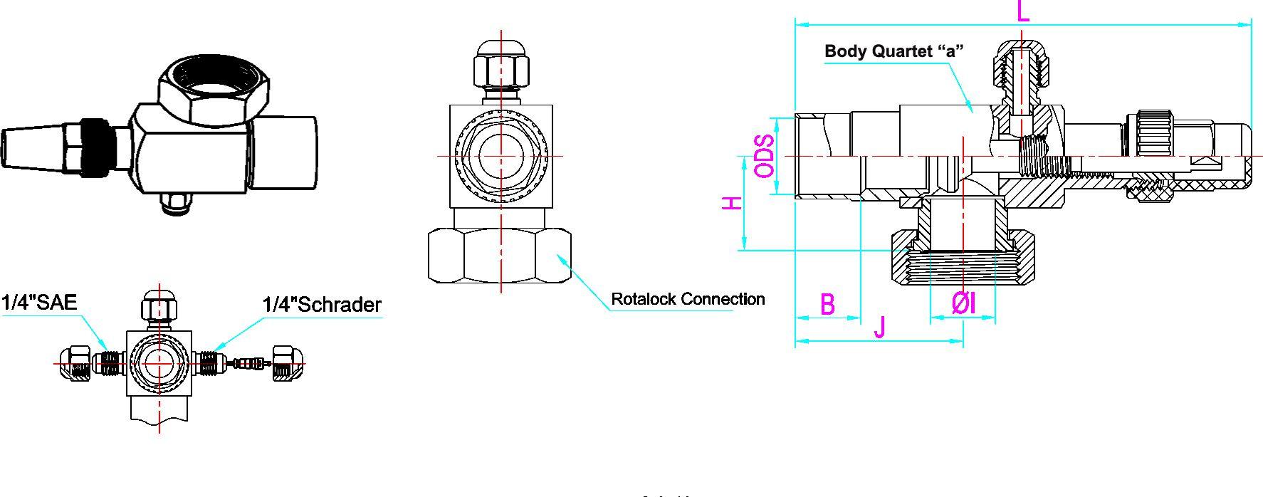 lett rotalock valves drawing
